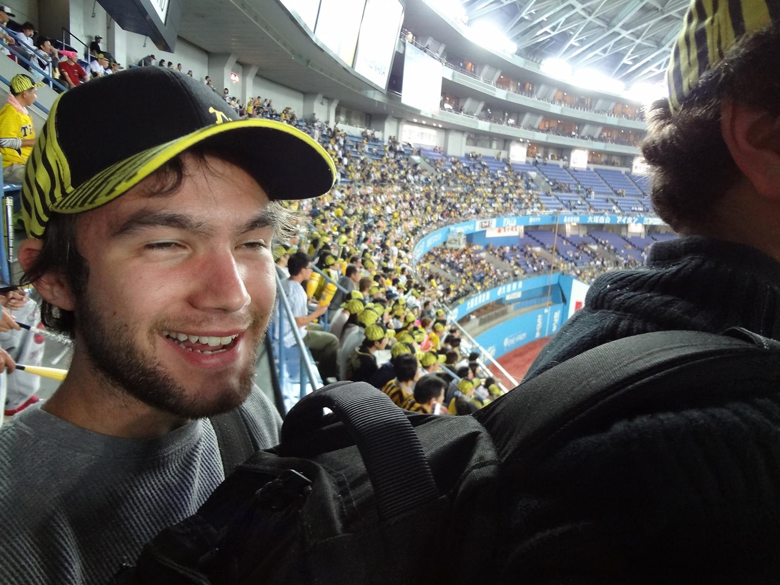 Sam at Hanshin Tigers game
