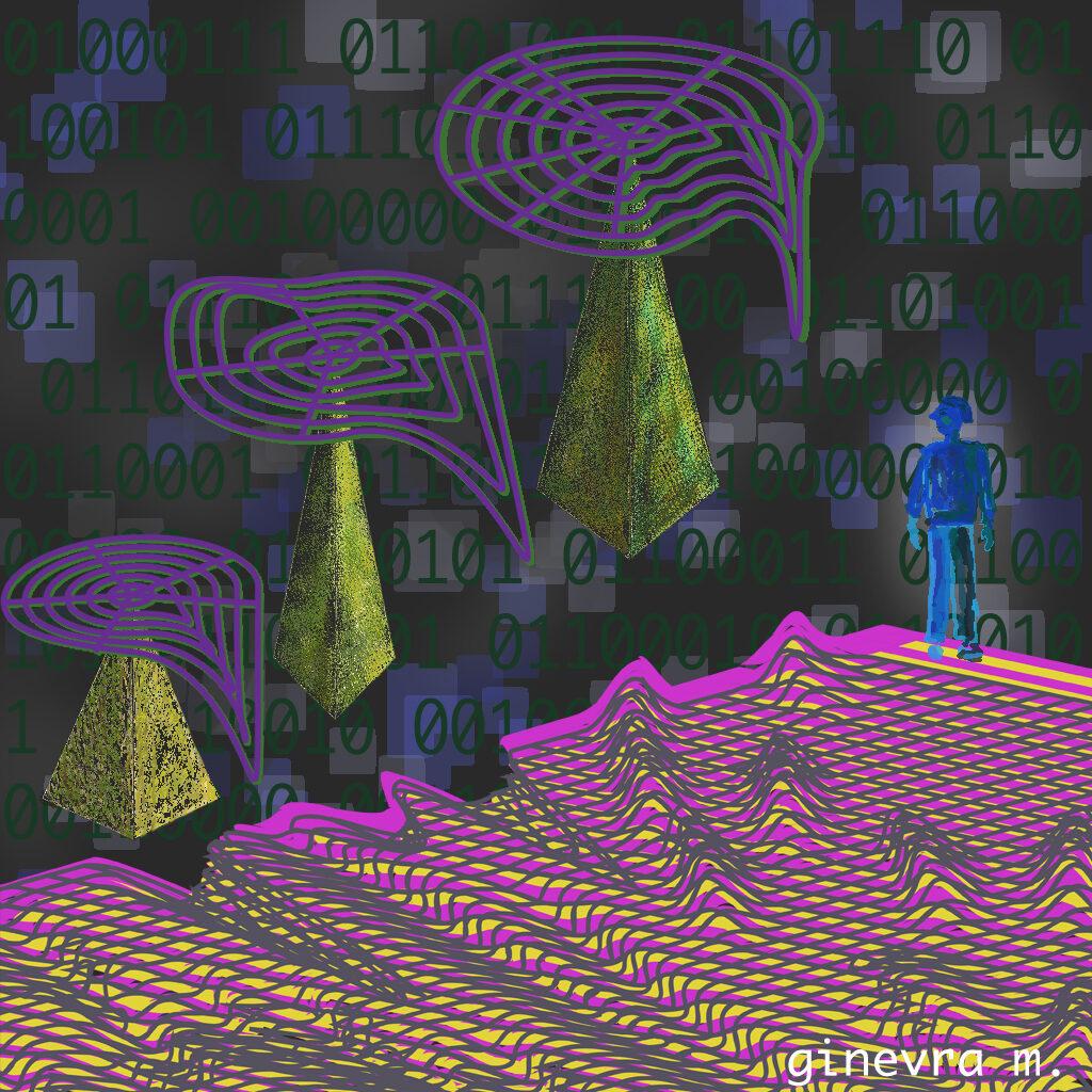 Retro net landscape